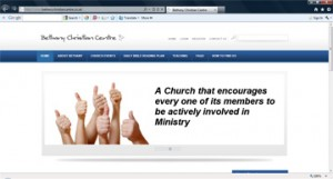 Portfolio Bethany Christian Centre screenshot