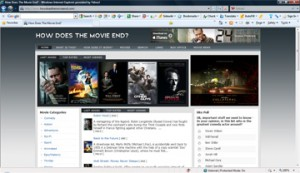 Portfolio Movie Site screenshot
